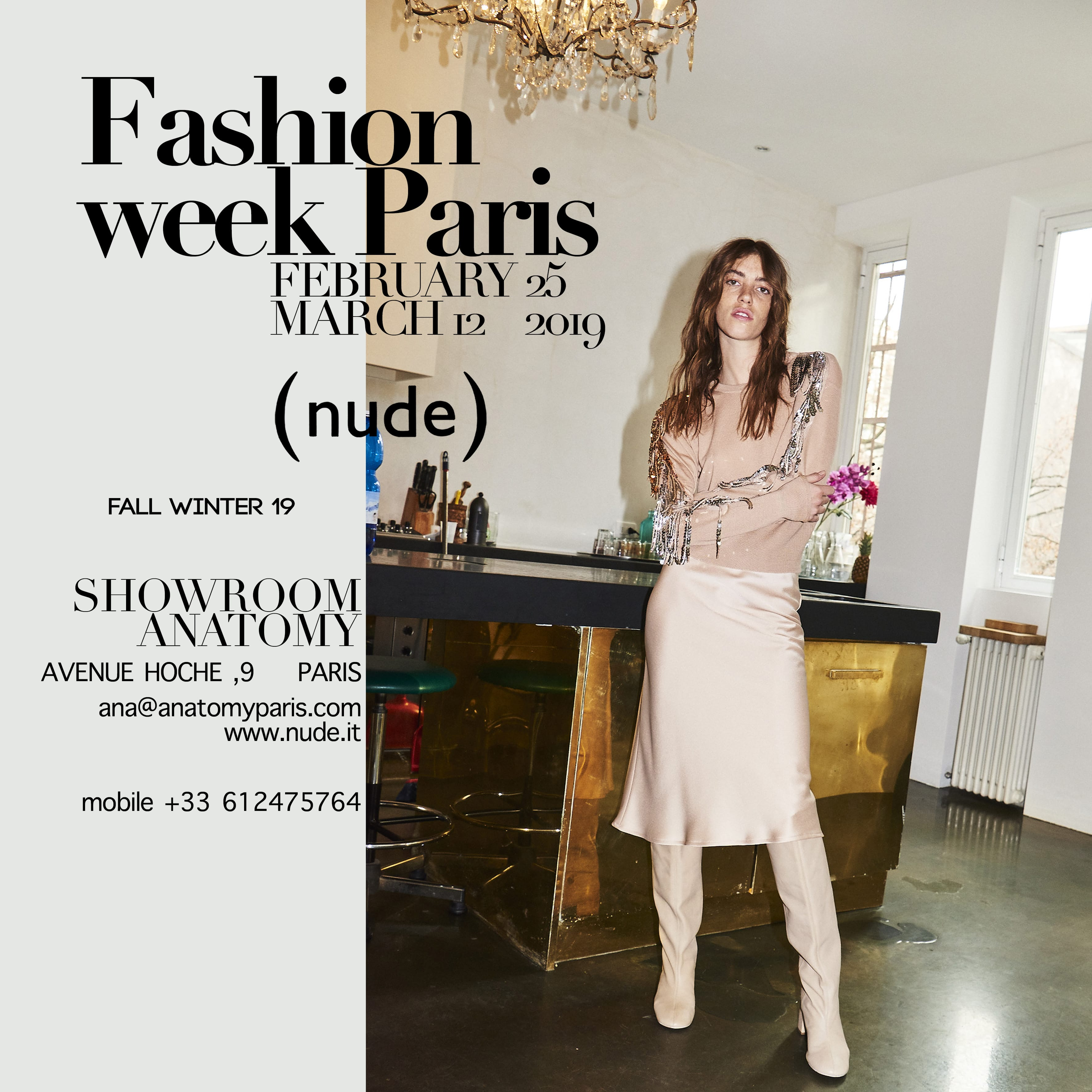 Nude alla FASHION WEEK di PARIGI